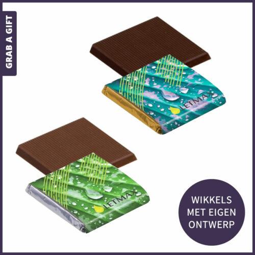 Grab a Gift - Wikkel van vierkante napolitains met logobedrukken