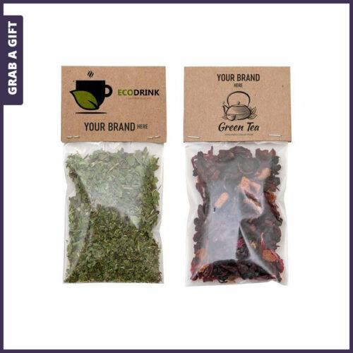 Grab a Gift - Biologische thee met bedrukt kopkaartje van ecologisch karton