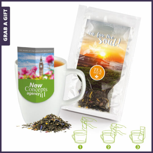 Grab a Gift - Premium thee bestellen met aantrekkelijke bedrukte theekophouder