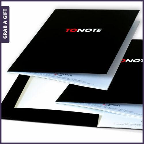 Grab a Gift - Presentatiemap met schrijfblok in kleur in kleur bedrukken