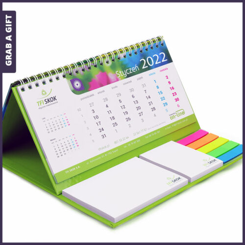 Grab a Gift Relatiegeschenken- Bureaukalender met sticky notes en marker-set bedrukken