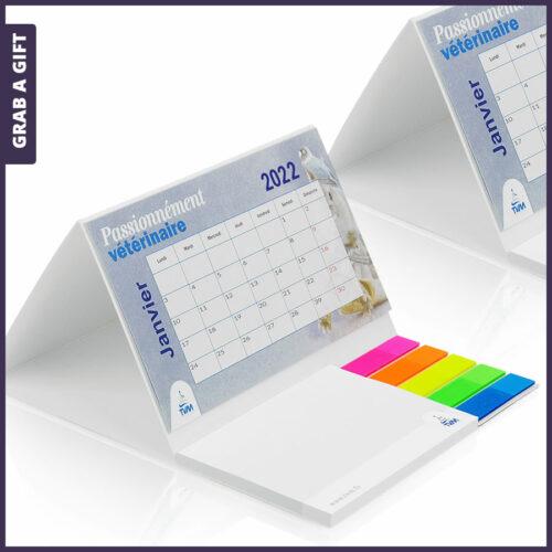 Grab a Gift Relatiegeschenken - Grab a Gift - Goedkope bureaukalenders met pagemarkers en plaknotities bedrukken