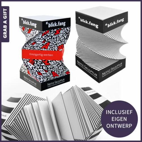 Grab a Gift Relatiegeschenken- Notitiesculptuurbedrukken met logo en reclame