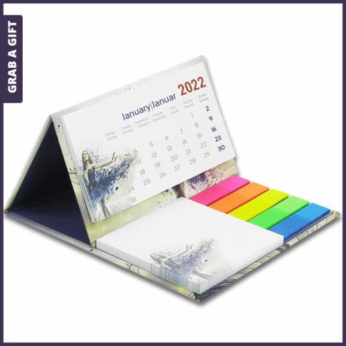 Grab a Gift Relatiegeschenken - Opvouwbare mini-bureaukalender met harde kaft bedrukken
