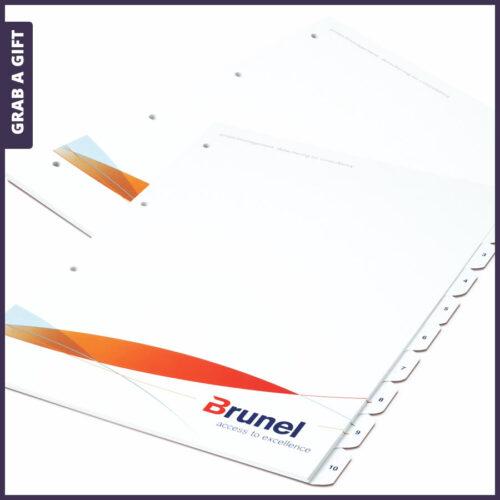 Grab a Gift Relatiegeschenken - Sets van 4, 6, 8, 10 of 12 tabbladen in kleur bedrukken