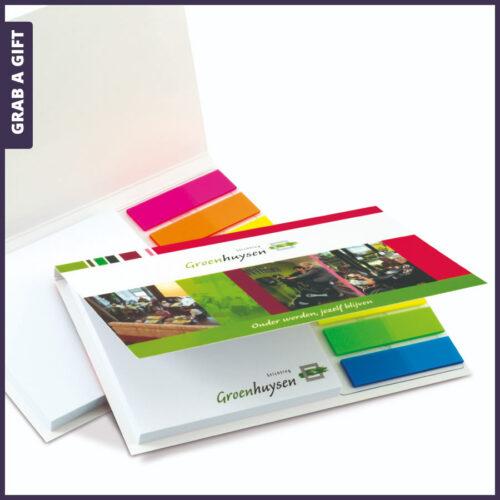 Grab a Gift Relatiegeschenken - Softcover Combi Set bedrukken met logo en eigen ontwerp in kleur