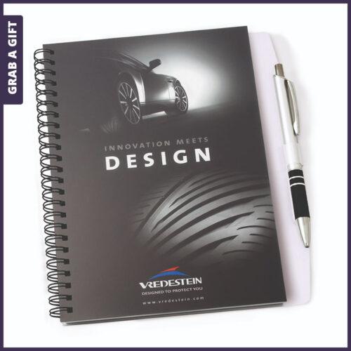 Grab a Gift Relatiegeschenken- Wire-o Penblok schrijfblok bedrukken met logo en reclame