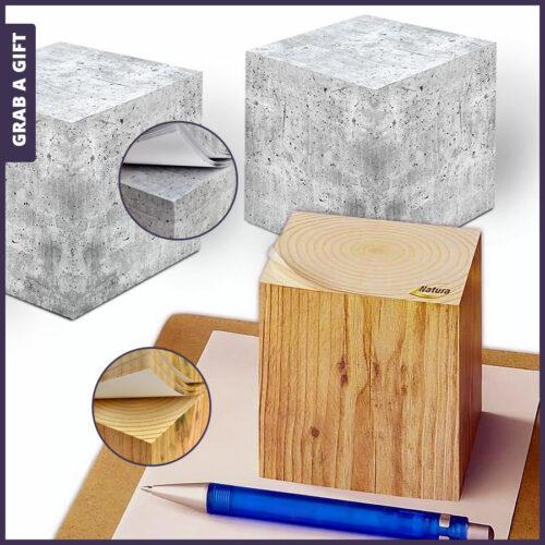Grab a Gift Relatiegeschenken - Zelfklevende kubusblokken 'Design Editie' bedrukken met logo