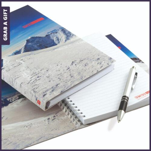 Grab a Gift Relatiegeschenken - Zwitsers A5 notitieblok schrijfblok in kleur bedrukken