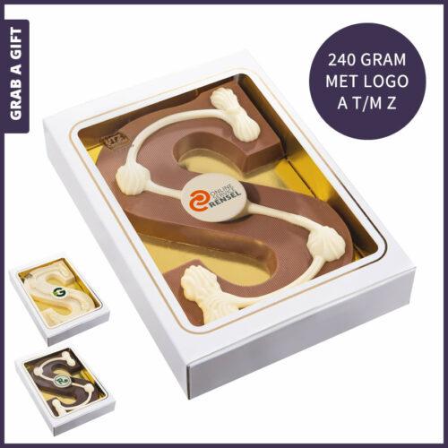 Grab a Gift - Alfabetletter 240 gram met logo opdruk van A - Z