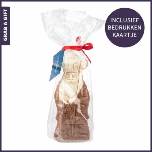Grab a Gift - Sinterklaas chocoladepop 300 gram met bedrukt kaartje